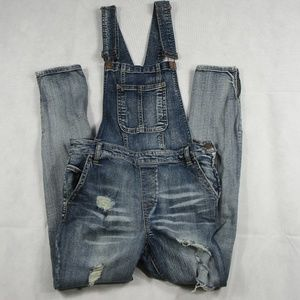 Distressed Overalls Dollhouse Jeans juniors sz 11